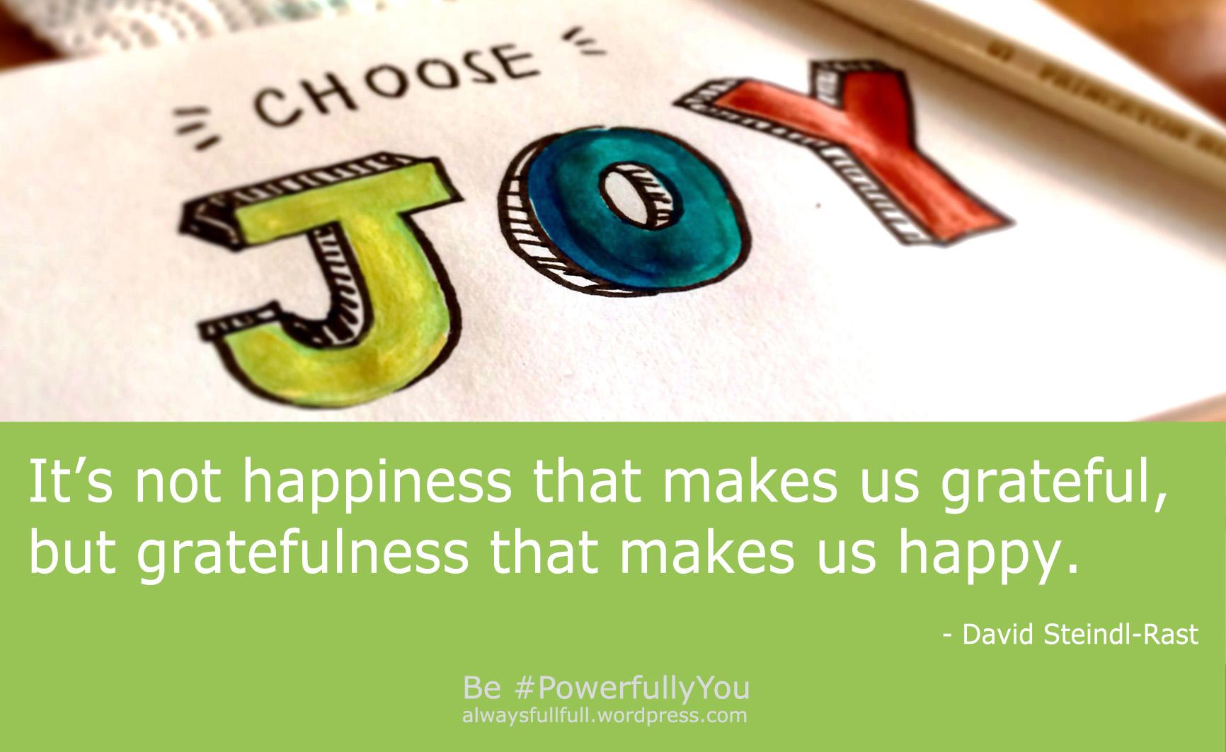happiness gratitude